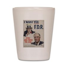 Funny Campaign Shot Glass
