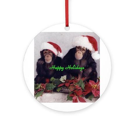 Valbuena Chimps Ornament (Round)