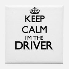 Keep calm I'm the Driver Tile Coaster