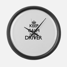 Keep calm I'm the Driver Large Wall Clock
