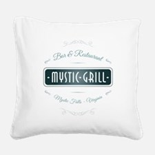 TVD - Mystic Grill blue Square Canvas Pillow