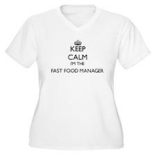 Keep calm I'm the Fast Food Mana Plus Size T-Shirt