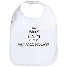 Keep calm I'm the Fast Food Manager Bib
