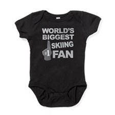 Skiing Fan foam hand Baby Bodysuit