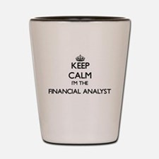 Keep calm I'm the Financial Analyst Shot Glass