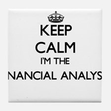 Keep calm I'm the Financial Analyst Tile Coaster