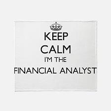 Keep calm I'm the Financial Analyst Throw Blanket
