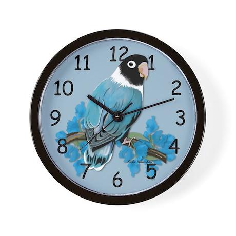 Blue Masked Lovebird Wall Clock