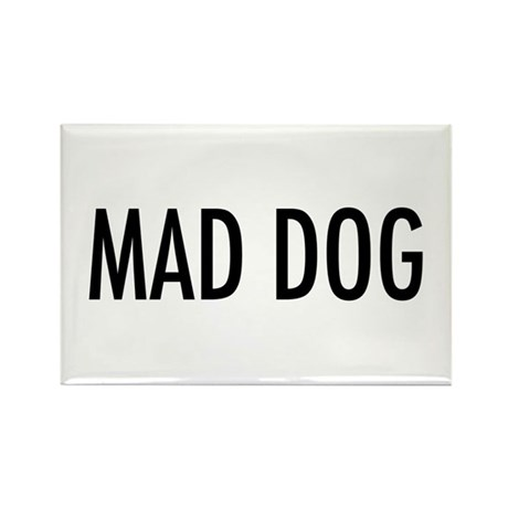 "Pet Word ""Mad Dog"" Rectangle Magnet (100 pack)"