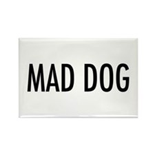 "Pet Word ""Mad Dog"" Rectangle Magnet"