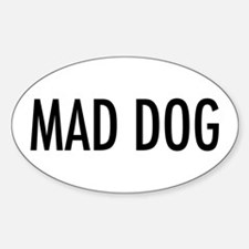 "Pet Word ""Mad Dog"" Oval Decal"