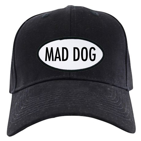 "Pet Word ""Mad Dog"" Black Cap"