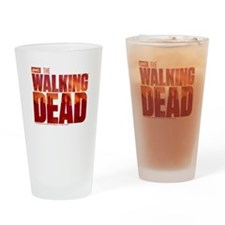 The Walking Dead Blood Logo Drinking Glass