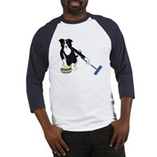 Border Collie Curling Baseball Jersey