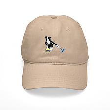 Border Collie Curling Baseball Cap