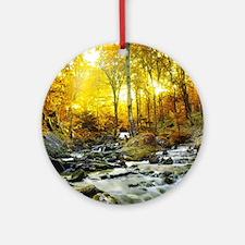 Autumn Creek Ornament (Round)