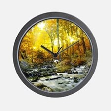 Autumn Creek Wall Clock