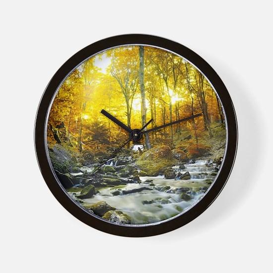 Autumn Creek Wall Clock