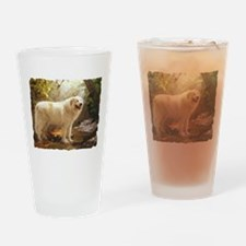 Great Pyrenees Alazon b Drinking Glass