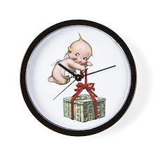 Merry Christmas Cupie Wall Clock