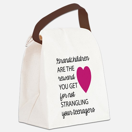 Grandchildren Are The Reward 2 Canvas Lunch Bag