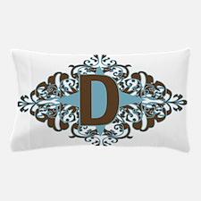 D Monogram Personalized Letter Pillow Case