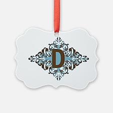 D Monogram Personalized Letter Ornament