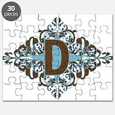 D Monogram Personalized Letter Puzzle
