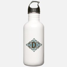D Monogram Personalize Water Bottle