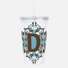 D Monogram Personalize Acrylic Double-wall Tumbler