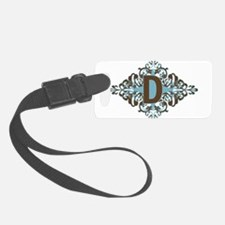 D Monogram Personalized Letter Luggage Tag