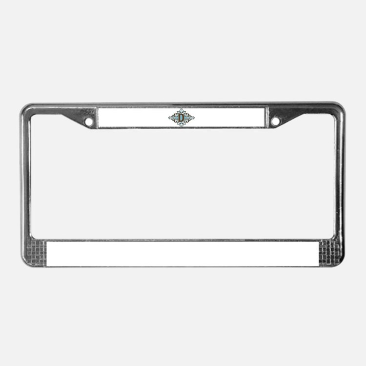 D Monogram Personalized Letter License Plate Frame