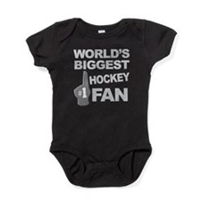 Hockey Fan foam hand Baby Bodysuit
