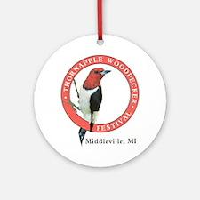 Thornapple Woodpecker Festival Ornament (Round)