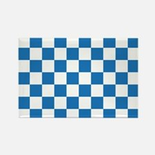 BLUE AND WHITE Checkered Pattern Magnets