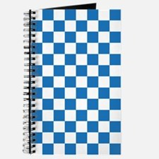 BLUE AND WHITE Checkered Pattern Journal