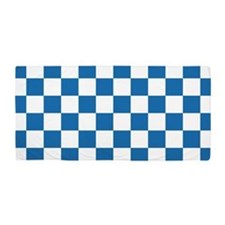 BLUE AND WHITE Checkered Pattern Beach Towel