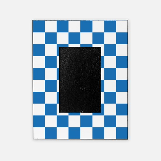 BLUE AND WHITE Checkered Pattern Picture Frame