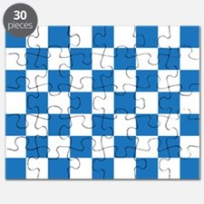 BLUE AND WHITE Checkered Pattern Puzzle