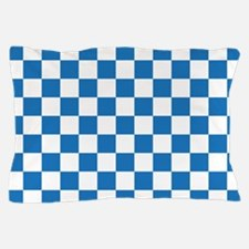 BLUE AND WHITE Checkered Pattern Pillow Case