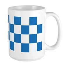 BLUE AND WHITE Checkered Pattern Mugs