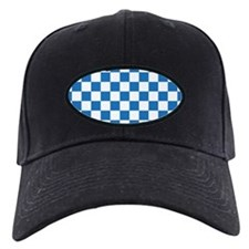 BLUE AND WHITE Checkered Pattern Baseball Hat