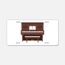 Upright Piano Aluminum License Plate