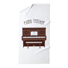 Piano Teacher Beach Towel
