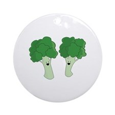 Happy Broccoli Ornament (Round)