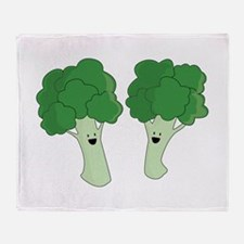 Happy Broccoli Throw Blanket