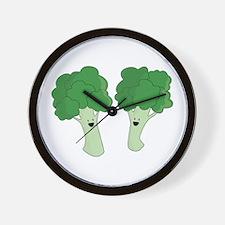 Happy Broccoli Wall Clock