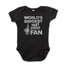 Fast Pitch Fan foam hand Baby Bodysuit