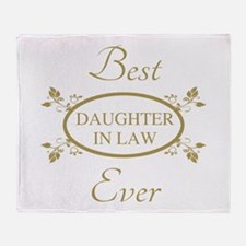 Best Daughter-In-Law Ever Throw Blanket