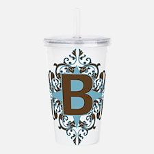 B Monogram Personalize Acrylic Double-wall Tumbler